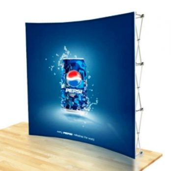 Pop Up Display Curved in Malaysia