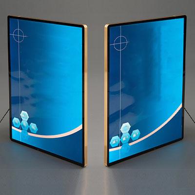 Round Corner Aluminium Frame LED Light Box in Malaysia