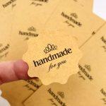 johor bahru-singapore-die cut-brown craft label sticker-sheet