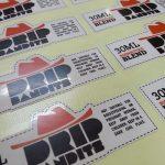 johor bahru-singapore-die cut-mirrorkote label sticker-sheet