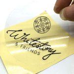 johor bahru-singapore-round-clear transparent opp label sticker-to size